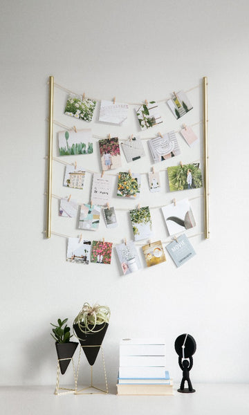 picture display, diy photo collage, hanging picture organizer