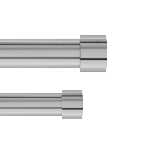 Double Curtain Rods | color: Nickel-Steel | size: 66-120