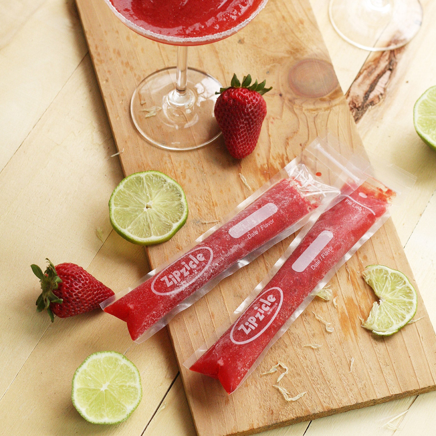 Strawberry Daiquiri Ice Pop