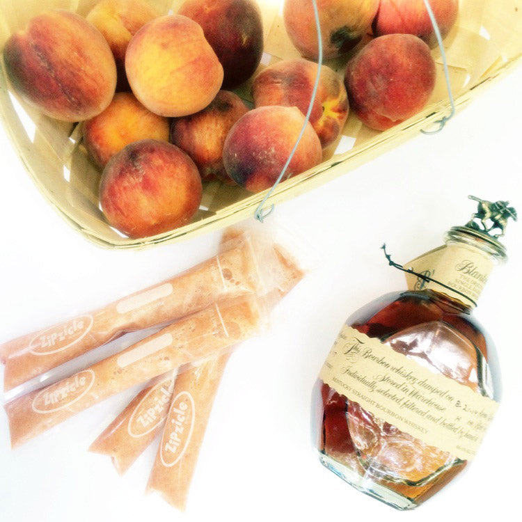 Peach Bourbon Ice Pop