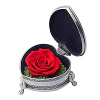 hey June Gifts for Women, Preserved Rose Flower with Gift Box, Unique Gifts for Wife Grandma Mom Valentines Anniversary Mothers Day Birthday Gifts (Red Rose)