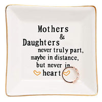 HOME SMILE Friends Gifts for Her Ring Trinket Dish-A True Friendship is a Journey Without an end