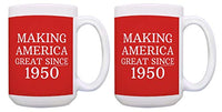 70th Birthday Gifts For All Making America Great Since 1950 Birthday Mug Birthday Gifts Coffee Mug Tea Cup Red