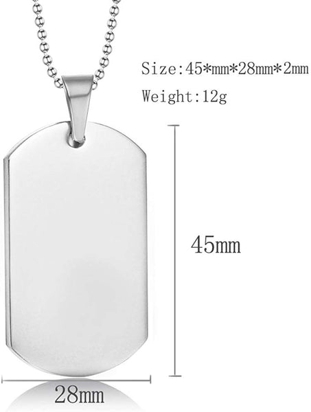 LF Stainless Steel Personalized Couple Necklace,Name Date Customised His Her Couple Gifts Sentiment Motivational Dog Tag Pendant Necklace for Him Her for Valentine,Engagement,Anniversary,Birthday