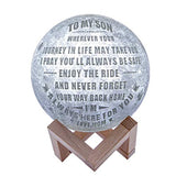 Engraved 3D Moon Lamp for Wife,Personalized 5.9 Inch 3D Printing Moon Light Gift for Wife Valentine's Christmas Gift (for Wife)