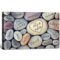 I love U -Personalized artwork with couple's names,wedding anniversary gifts, Valentine's day gifts. 18x12