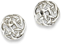 925 Sterling Silver Irish Claddagh Celtic Knot Post Stud Earrings Ball Button Fine Jewelry For Women Gifts For Her