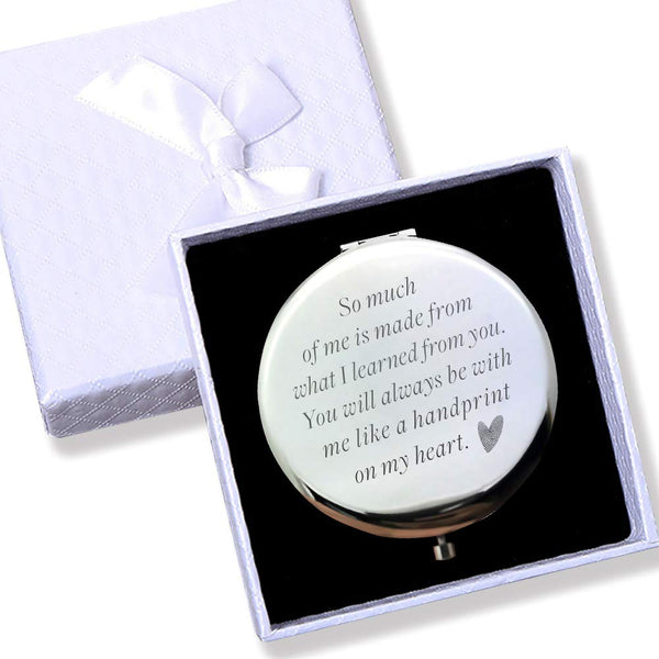 "Mom Gifts from son and daughter Unique Birthday Gifts for Women --Travel mirror(2.6"",silver)"