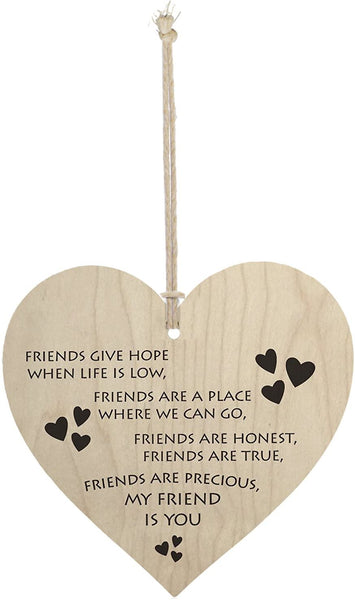 Meijiafei My Friend is You Friendship Sign Best Friend Plaque Gift Hanging Heart Sign