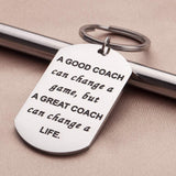 Coaches Gifts Keychain for Men Women Basketball Football Soccer Basketball Swimming Baseball Cheer Birthday Teachers Appreciation Thank You Gift Keyring Jewelry