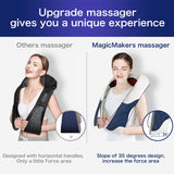 Back Massager with Heat - Shiatsu Neck Back Massager - Christmas Fashion Gifts for Boyfriend, Girlfriend, Everyone, Grandma, Grandpa - Kneading Electric Back Massage Pillow for Back, Neck, Shoulder