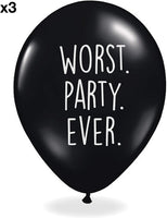Abusive Birthday Balloons - Pack Of 12 Different Funny Offensive Balloons (For Her)