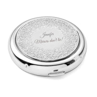Personalized Floral Compact, Bridesmaid Purse Pocket Makeup Mirror Foldable & Magnifying, Infinite Love, Affection, Renaissance, Venice, Unique Birthday Gift for Her, Customized by OnePlace Gifts