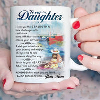 Beautifully Designed Gift for Daughter - To My Daughter Coffee Mug - 11 oz Novelty Ceramic Cup - Christmas, Xmas, Birthday, Wedding, Graduation, Valentine's Day Gift ideas for daughters Women