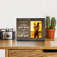 Ku-dayi No Matter Where You are, I Will Always be with You, Long Distance Relationships Gifts, Going Away Couples Picture Frame Gift for Him or Her Love Gift for Boyfriend or Girlfriend