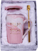 Jumway Not a Day Over Fabulous mug - Birthday Gifts for Women - Funny Birthday Gift Ideas for Her, BFF, Best Friends, Coworkers, Her, Wife, Mom, Daughter, Sister, Aunt Ceramic Marble Mug 14 oz pink
