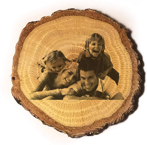 Customized 3D Laser Engraved Personalized Wooden Rustic Log Custom Magnet with Your Photo - Gifts for Him, for Her, for Boys, for Girls, for Husband, for Wife, for Them, for Men, for Women, for Kids