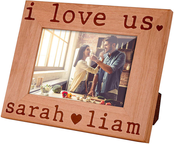 Amazing Items Personalized Love Picture Frame for Couples - Valentines Gifts for Her, Him | I Love Us | Wedding Gifts for The Couples, Romantic Gifts, Custom Photo Frame, 4x6