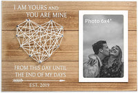 VILIGHT Gift for 1st Wedding Anniversary Married 2019 - Couple's Picture Frame for Husband and Wife - 4x6 Photo