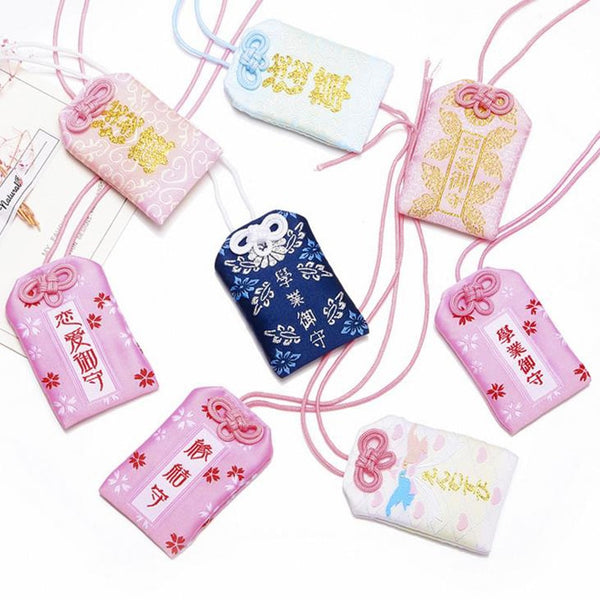 1 Pcs Kawaii Omamori Fortune Success Work Love Safety Wealthy Phone Pendant Holder Girlfriend Kid Gift Present Party Favors