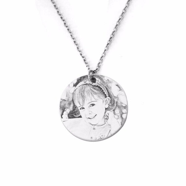Your Photo Necklace,Personalized Name Necklace,Custom Photo Necklace,Name Jewelry for Her,New Mom's Gfit,Gift for Lover