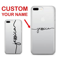 For iPhone 11 Pro 6S XS Max 7 7Plus 8 8Plus X XR Soft Clear Phone Case Personalized Custom Name Text