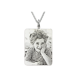 Sweey Dropshipping Cumstomized Photo Jewelry Personalized Necklace Engraved Photo Pendant Photo Necklace for Her Jewelry Gift