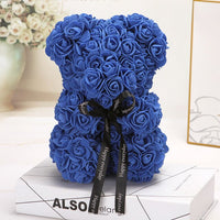Artificial Bear of Roses Foam Rose Teddy Bear Girlfriend Valentines Day Gift Birthday Party Decoration