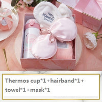 free shipping birthday gift for girlfriend boyfriend pink blue mug Sleep mask Thanksgiving Christmas return gifts for wedding