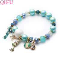 QIFU 1pcs Mermaid Shell Bracelet For Birthday Party Favors Gifts Girlfriend Anniversary Gift Wedding Favors And Gifts Supplies