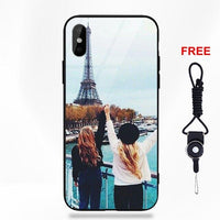 His Hers Best Friends Bff For Apple iPhone 5 5C 5S SE 6 6S 7 8 Plus X XS Max XR Soft TPU Frame+Tempered Glass Cell Phone Shell