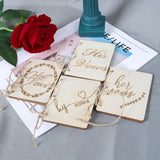 Wooden Small Manual His/her Vows Photo Booth Props Wedding Decoration Just Married Photobooth Photo Props Wedding Party Decor