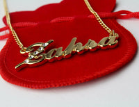 """ZAHRA"" Name Necklace 18K Gold Plated 