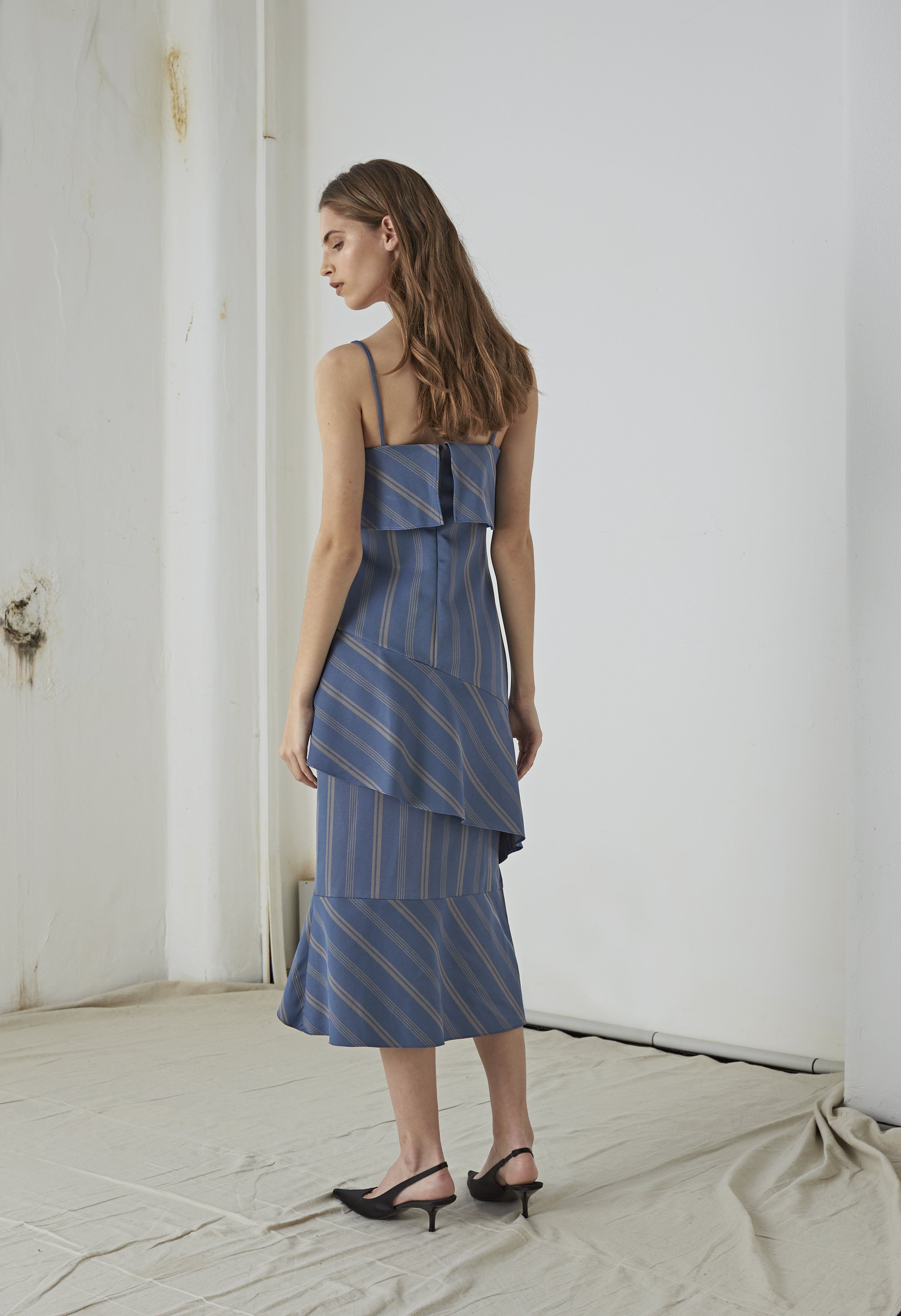 Teyha Dress Blue Stripe