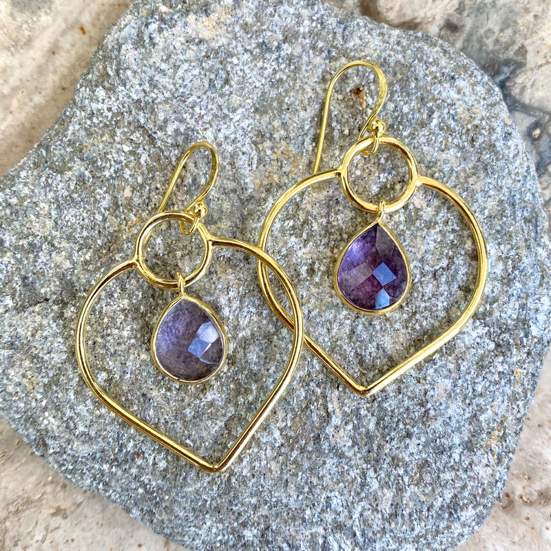 Cupids Kiss Amethyst Earrings
