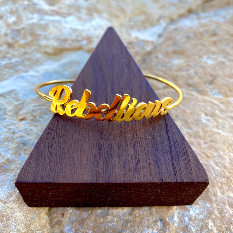 Rebellious Bangle (Gold)