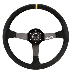 Sparco - SPARCO 368 Suede Competition Steering Wheel 380mm - 015R368MSN - Steering Wheel -Sparco, Steering Wheels & Accessories - 015R368MSN - Tatis Motorsports