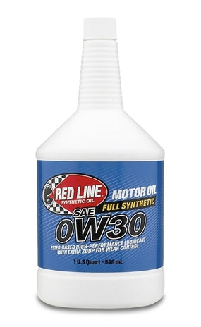 Red Line - Red Line 0W30 Synthetic Motor Oil (11114) Case of 12 - Motor Oil -0W-30, Honda Civic, Honda S2000, Motor Oil, Red Line, Scion FR-S, Subaru BRZ, Toyota 86 - 11114 - Tatis Motorsports