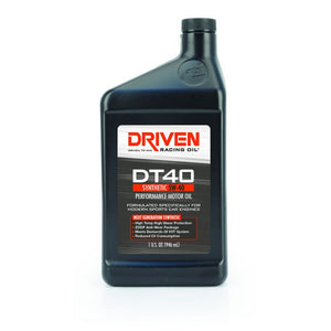 Driven 02406 DT40 High Zinc 5W-40 Synthetic Motor Oil - CASE of 12 quarts -FREE SHIPPING-Motor Oil-Driven Racing Oil-5W-40, Driven, Motor Oil-Tatis Motorsports