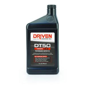 Driven Racing Oil - Driven 02806 DT50 15W-50 Synthetic Street Performance Oil - CASE of 12 quarts -FREE SHIPPING- - Motor Oil -15W-50, Driven, Motor Oil - 02806 - Tatis Motorsports