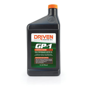 Driven 19506 GP-1 20W-50 Synthetic Blend High Performance Oil - CASE of 12 quarts-Motor Oil-Driven Racing Oil-20W-50, Driven, Motor Oil-Tatis Motorsports