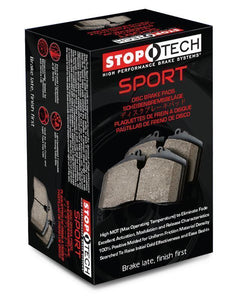 Stoptech 309.10040 Sport Rear Brake Pads with Shims & Hardware (04-05 Subaru Impreza WRX)-Brake Pads-Stoptech-Rear Brake Pad, Stoptech, Subaru Impreza WRX-Tatis Motorsports