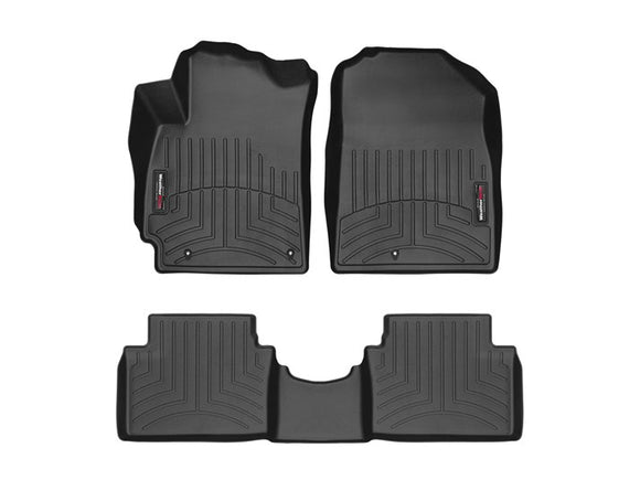 Weather Tech - WeatherTech DigitalFit™ 1st & 2nd Row Black Molded Floor Liners Hyundai Veloster N #441333-1-2 - Interior Accessories -Hyundai Veloster N, Interior Accessories, Weather Tech - 441333 - Tatis Motorsports