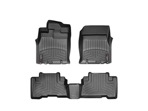 Weather Tech - WeatherTech DigitalFit™ 1st & 2nd Row Black Molded Floor Liners (07-11 Toyota FJ Cruiser) 44311-1-2 - Interior Accessories -Interior Accessories, Toyota FJ Cruiser, Weather Tech - 44311-1-2 - Tatis Motorsports