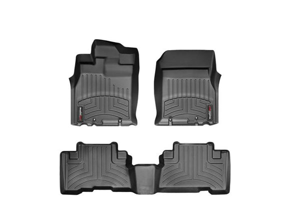 WeatherTech DigitalFit™ 1st & 2nd Row Black Molded Floor Liners (07-11 Toyota FJ Cruiser) 44311-1-2-Interior Accessories-Weather Tech-Interior Accessories, Toyota FJ Cruiser, Weather Tech-Tatis Motorsports