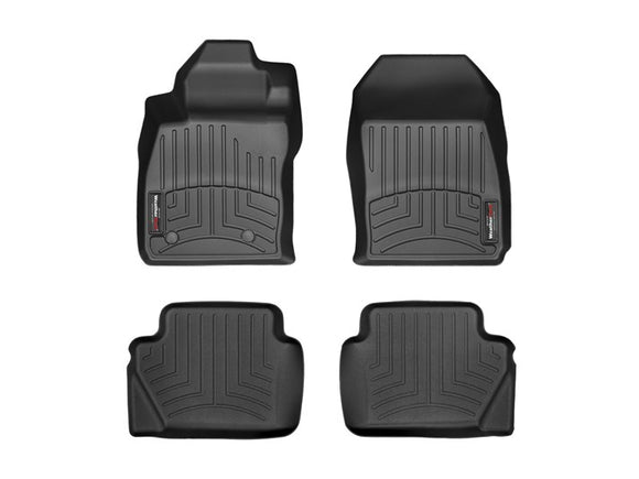Weather Tech - WeatherTech DigitalFit™ 1st & 2nd Row Black Molded Floor Liners 44323-1-3 Ford Fiesta ST - Interior Accessories -Ford Fiesta ST, Interior Accessories, Weather Tech - 44323-1-3 - Tatis Motorsports