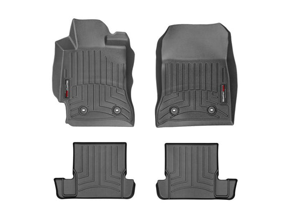 Weather Tech - WeatherTech DigitalFit™ 1st & 2nd Row Black Molded Floor Liners (FR-S, BRZ, 86) 44482-1-2 - Interior Accessories -Interior Accessories, Scion FR-S, Subaru BRZ, Toyota 86, Weather Tech - 44482-1-2 - Tatis Motorsports