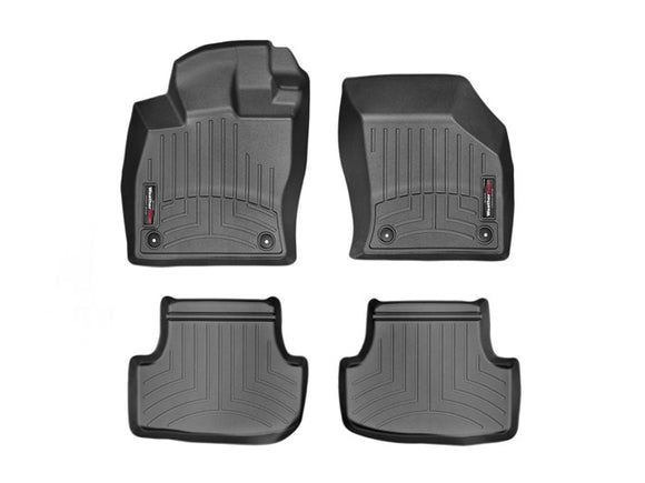 Weather Tech - WeatherTech DigitalFit™ 1st & 2nd Row Black Molded Floor Liners 44496-1-2 VW Golf GTI - Interior Accessories -Interior Accessories, VW GTI, Weather Tech - 44496-1-2 - Tatis Motorsports