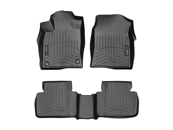 Weather Tech - WeatherTech DigitalFit™ 1st & 2nd Row Black Molded Floor Liners 16-19 Honda Civic 44884-1-2 - Interior Accessories -Honda Civic, Interior Accessories, Weather Tech - 44884-1-2 - Tatis Motorsports