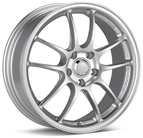 Enkei - Enkei PF01 Wheel Racing Series Silver 18x10.5 5x114.3 +38mm 460-8105-6638SP - Wheels -18x10.5 5x114.3 38mm, Enkei, Wheels - 46081056638SP - Tatis Motorsports